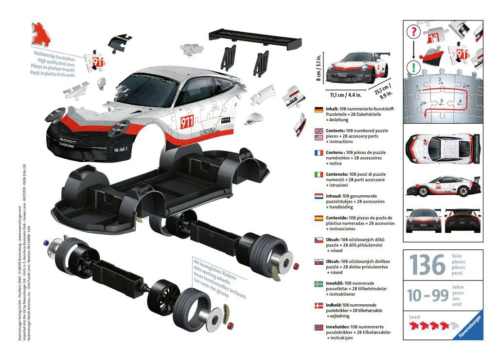 RAVENSBURGER  PORSCHE 911 GT3 CUP 11147